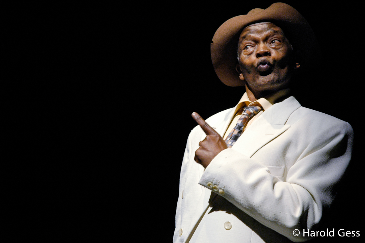 Winston Ntshona in the Baxter Theatre Centre production of Sizwe Banzi is Dead, 2006.