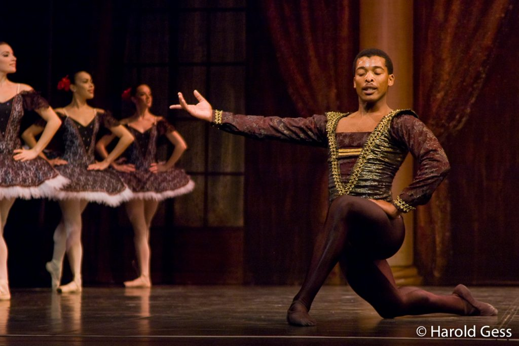 Xola Putye in the Cape Town City Ballet rehearse for the production of Paquita at the National Arts Festival, Grahamstown, 2009.