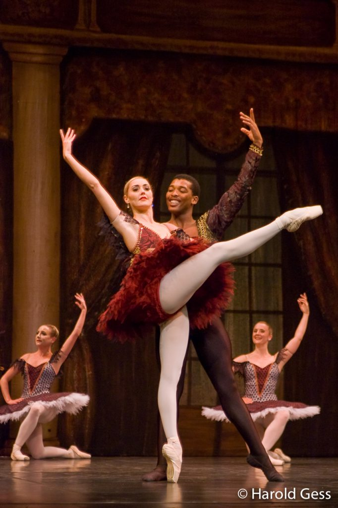 Megan Swart and Xola Putye of the Cape Town City Ballet in Paquita at the National Arts Festival, Grahamstown, 2009.