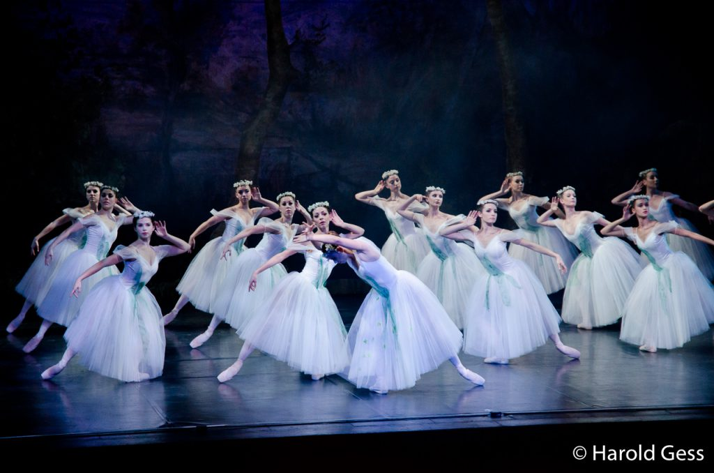 Members of the corps de ballet of the Cape Town City Ballet production of Giselle, at the National Arts Festival, Grahamstown, 2012.