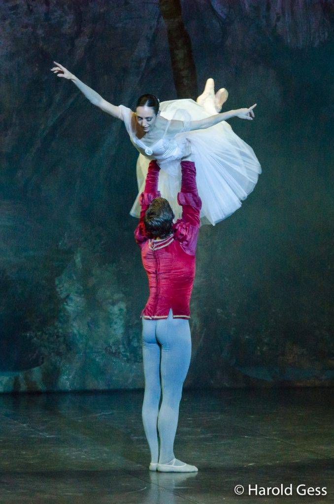 Kim Vieira as Giselle and Daniel Szybkowski as Albrecht in the final dress rehearsal production of the Cape Town City Ballet production of Giselle, at the National Arts Festival, Grahamstown, 29 June 2012. (Photo: Cuepix/Harold Gess)